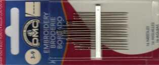 DMC - Aghi da ricamo con punta - misure 3-9