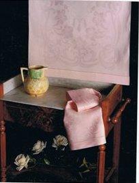 Coppia asciugamani puro lino jacquard - bianco (Florida)