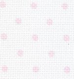AIDA 55 (14ct) - Impressions bianca a pois rosa - taglio 35x45