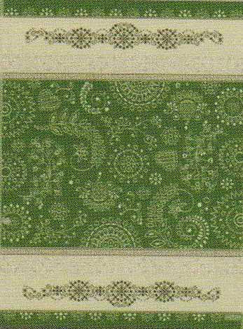 Asciugapiatti Etnico floreale - Verde