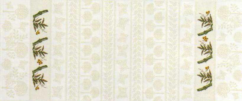 Striscia (runner) Bambù naturale e cotone