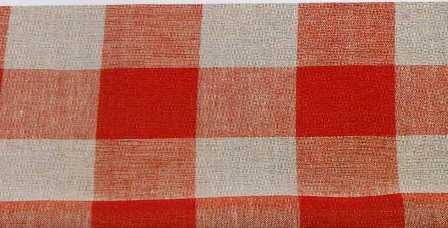 Riviera - Lino 11 fili cm. - rosso quadri - altezza 180 a metro