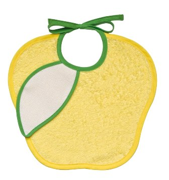 Bavaglino spugna 6 mesi - fruttini - mela gialla