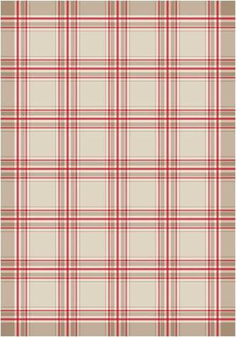 Asciugapiatti scozzese unifilo 11 fili cm - rosso