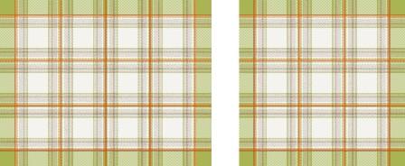 Americani scozzesi con tovagliolo - coppia -  verde