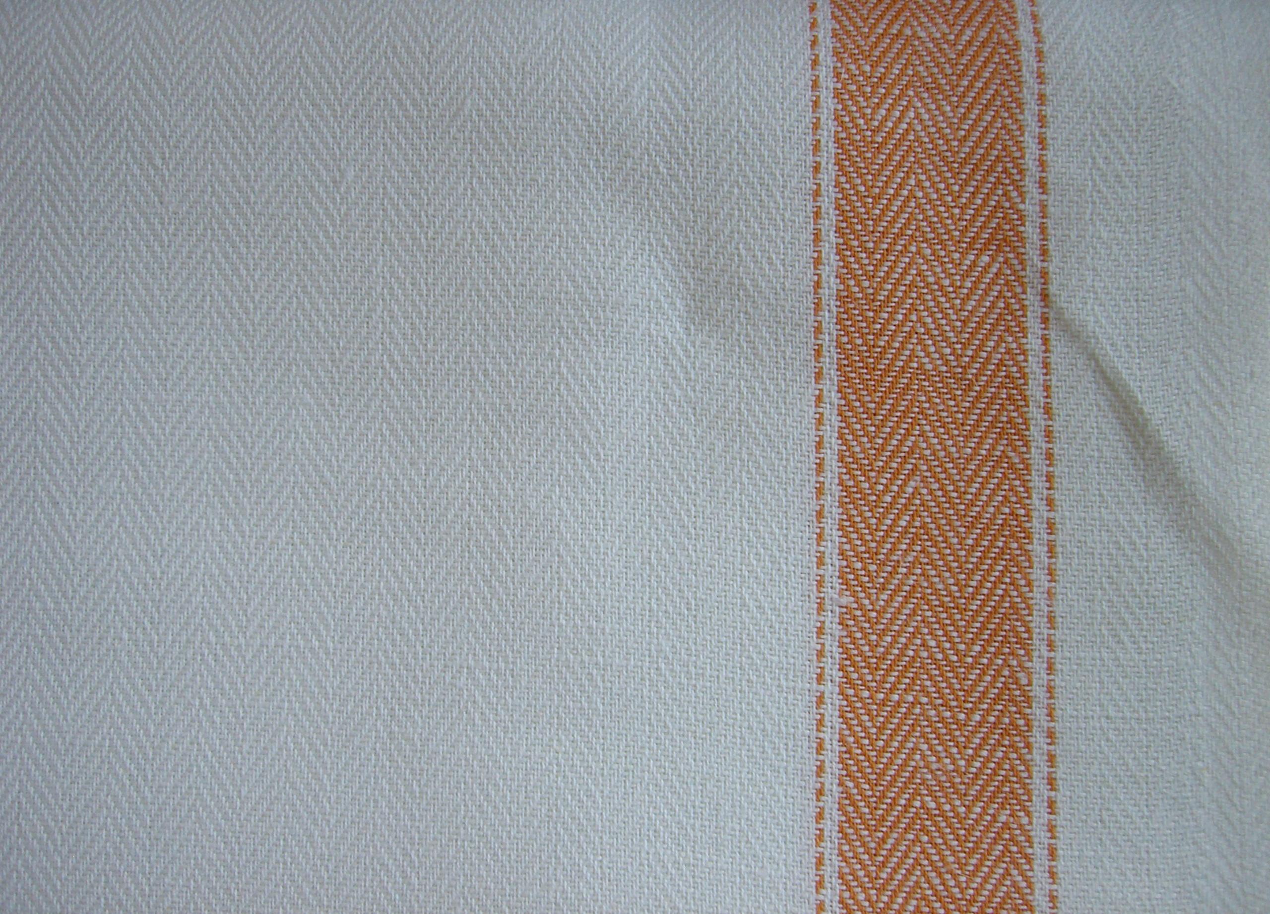 Tessuto per asciugapiatti misto lino - listone - giallo