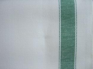 Tessuto per asciugapiatti misto lino - listone - verde