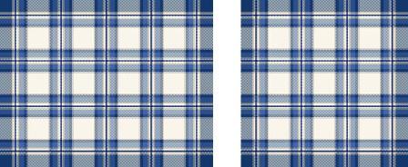 Americani scozzesi con tovagliolo - coppia -  blu