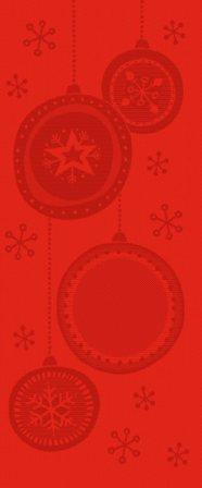 Natale DMC 2011 - pannello palline di natale - rosso