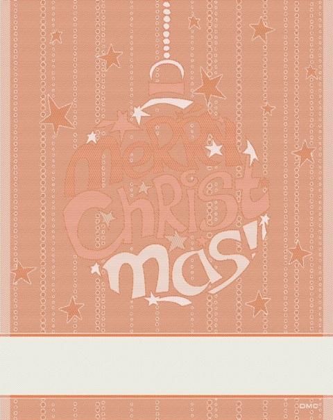 Natale DMC 2012 - asciugapiatti Merry Christmas rosso/ecrù