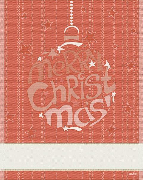 Natale DMC 2012 - asciugapiatti Merry Christmas rosso