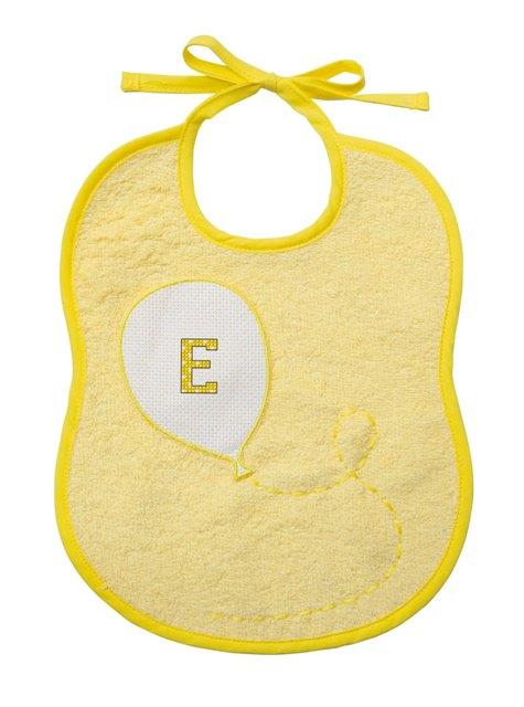 Bavaglino 6 mesi - spugna - palloncino - giallo