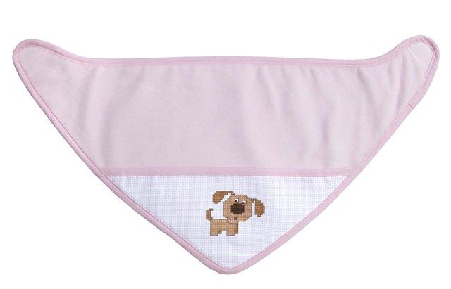 Bavaglino bandana - rosa