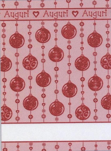 Asciugapiatti Natale - boules - rosso
