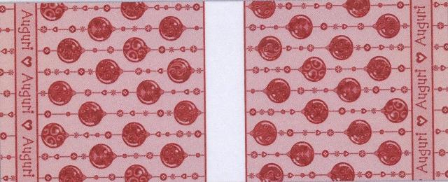 Runner natale - boules - rosso