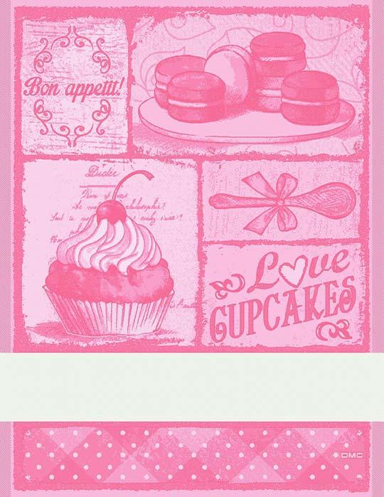 Asciugapiatti Cupcakes - corallo