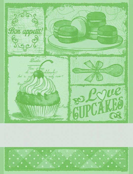 Asciugapiatti Cupcakes - verde