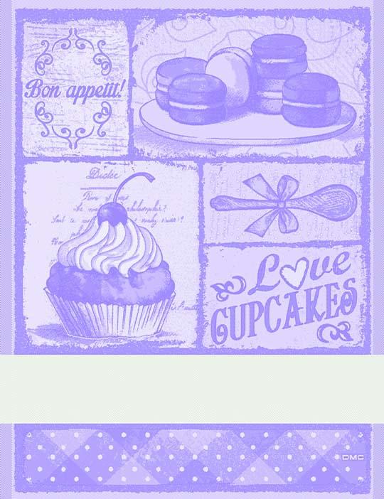Asciugapiatti Cupcakes - viola